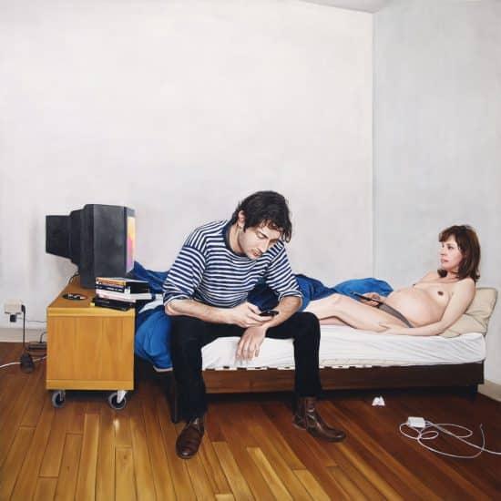Couple 01 2011 - huile sur toile - 200x200cm par Yhomas Levy Lasnes